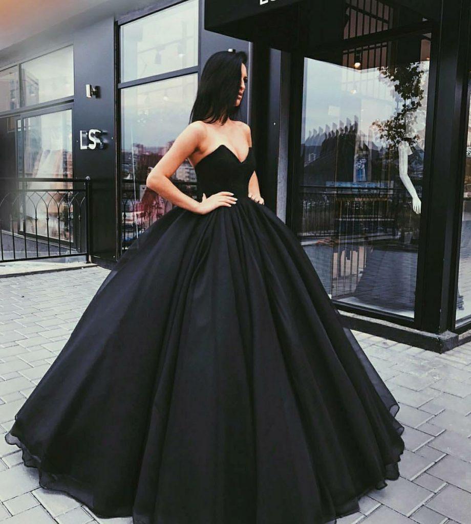 Vestidos de quince años negros