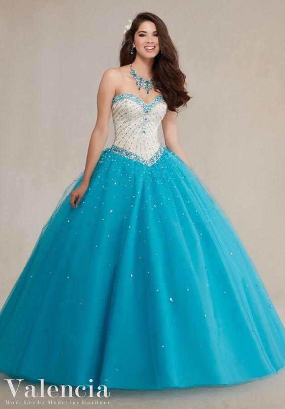 Vestidos de xv años azules