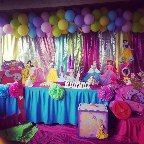 arco de globo para decorar fiesta de nina tema princesas (2)