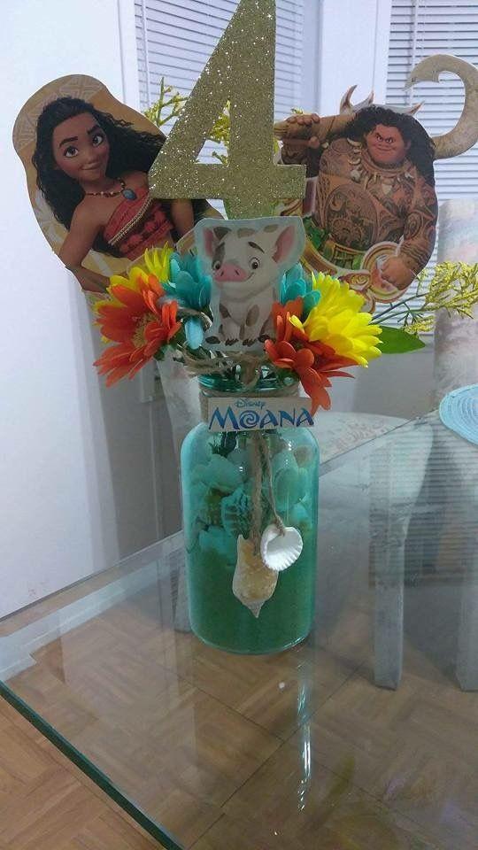 decoracion fiesta de moana