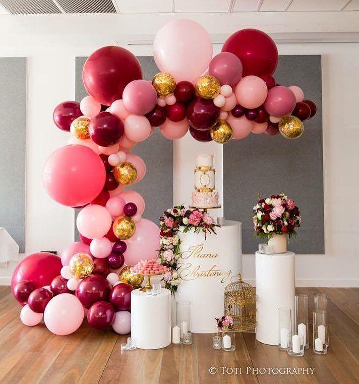 centros de mesa con globos para xv años