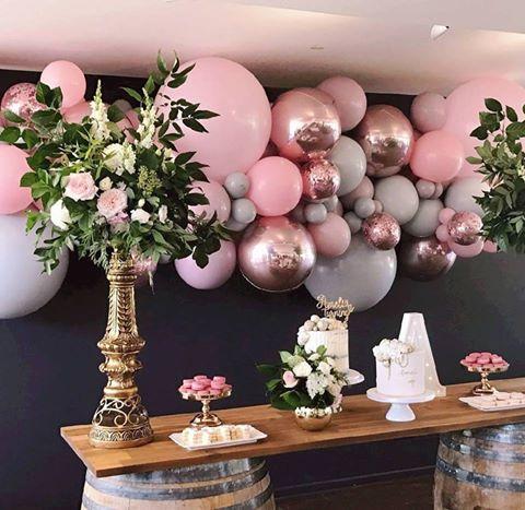 centros de mesa para fiesta de 15 con globos