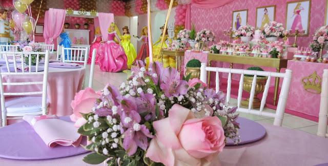 centros de mesa para fiesta infantil de princesas disney