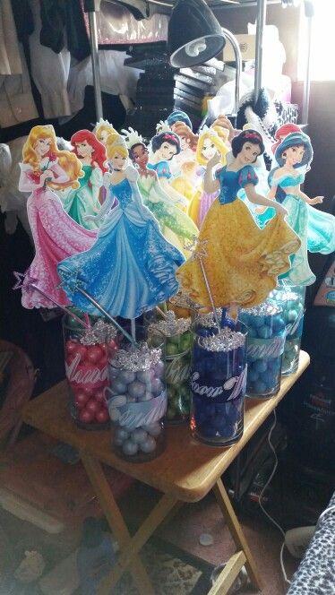 centros de mesa sencillos para fiesta de nina princesas (2)