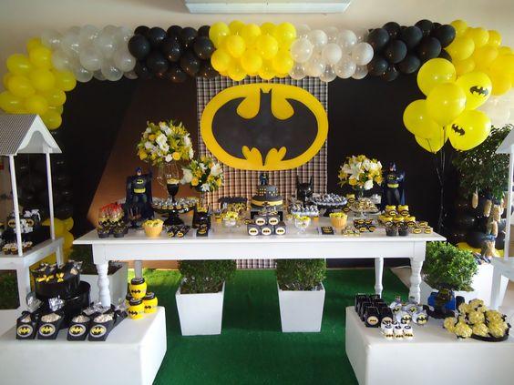 como decorar una fiesta de batman