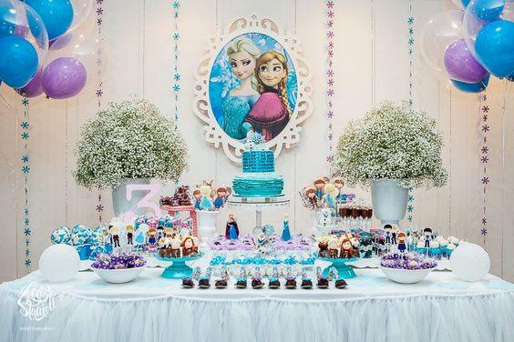 fiesta de niña frozen