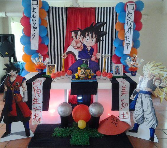 como decorar una fiesta de goku