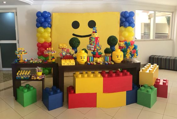 como decorar una fiesta de lego