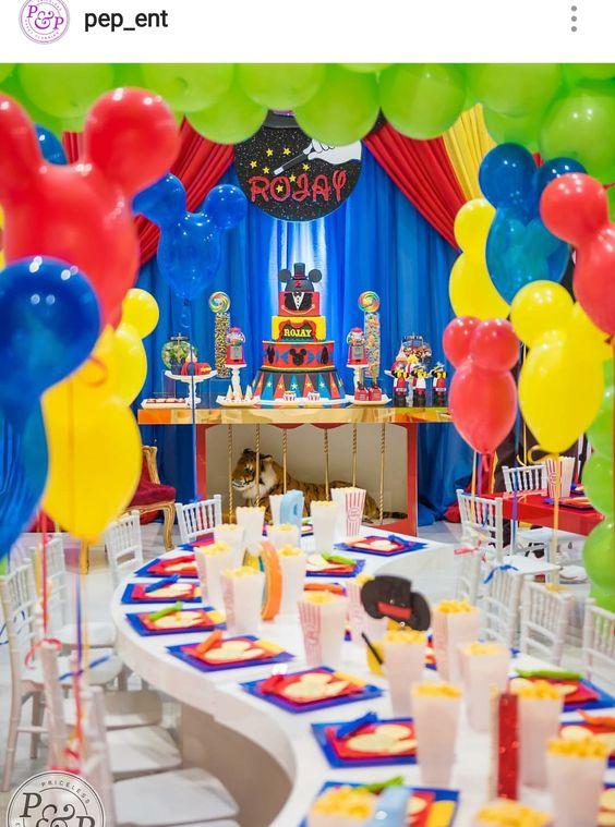 como decorar una fiesta de mickey mouse