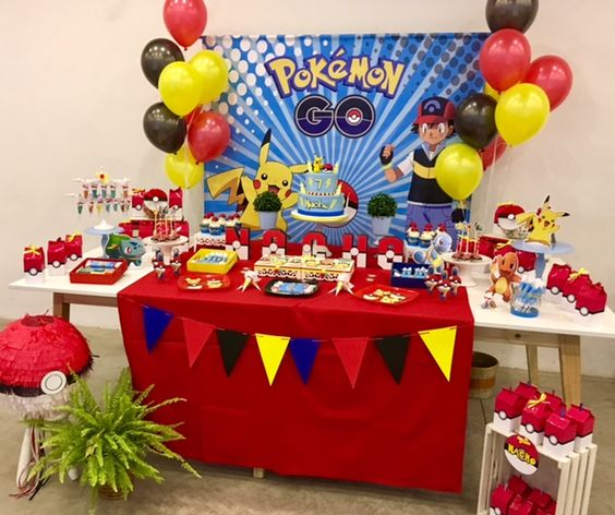 como decorar una fiesta de pokemon