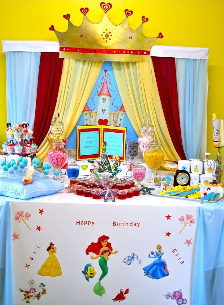como decorar una fiesta de princesas disney (2)