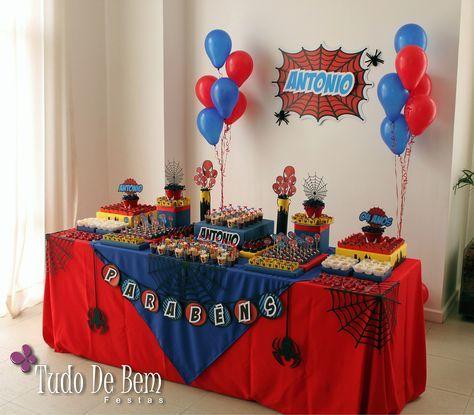 como decorar una fiesta de spiderman