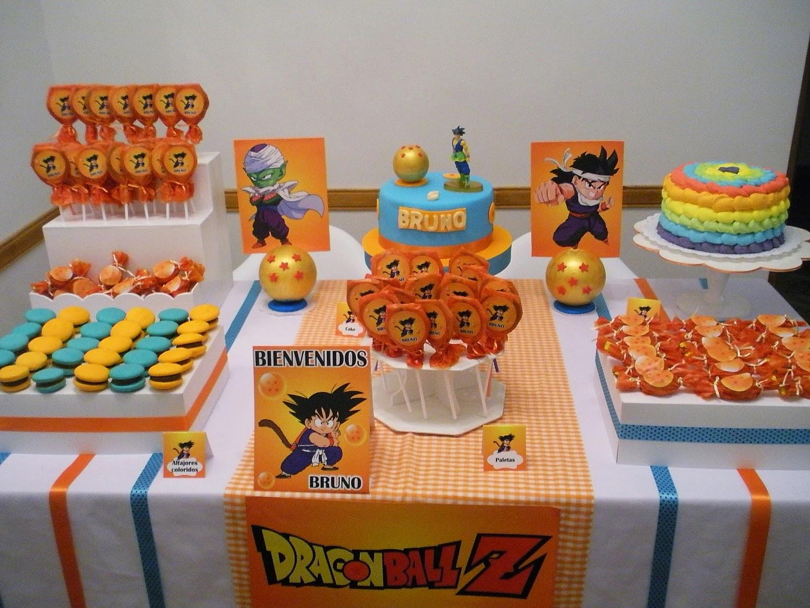 como decorar una mea de postres para fiesta infantil de goku (3)