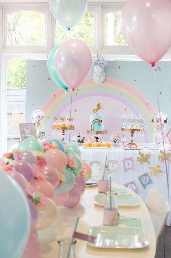 Fiestas infantiles de unicornios con las mejores ideas - Ideas para cumpleanos infantiles en casa ...