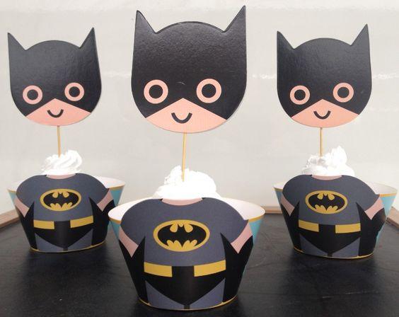 cup cake o bollitos de batman (4)