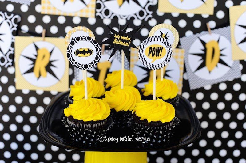 cup cake o bollitos de batman (5)