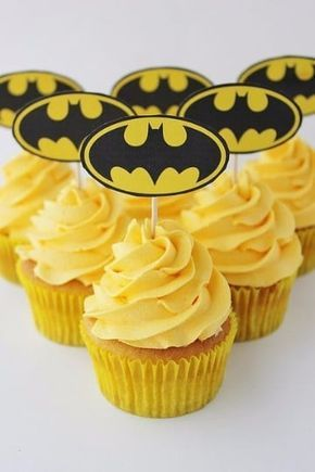 cup cake o bollitos de batman (6)