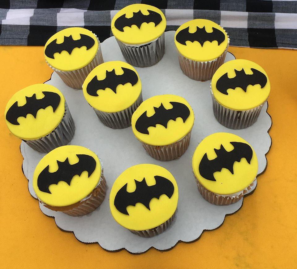 cup cake o bollitos de batman