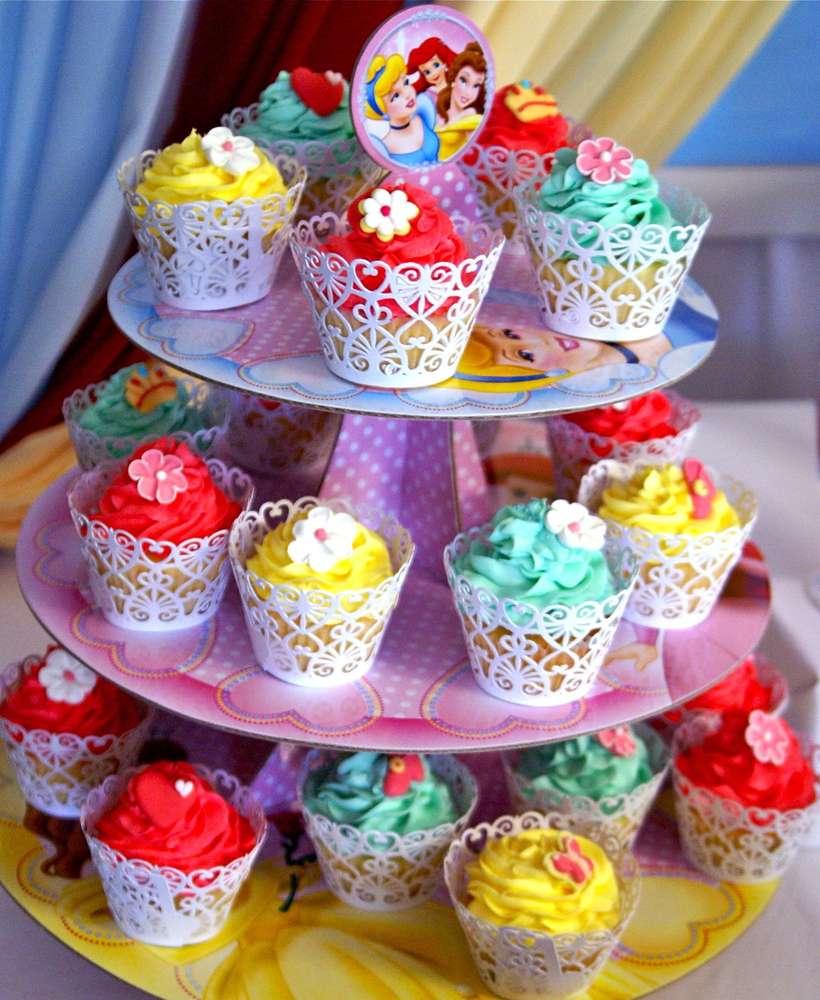 cup cake o bollitos de princesas disney (2)