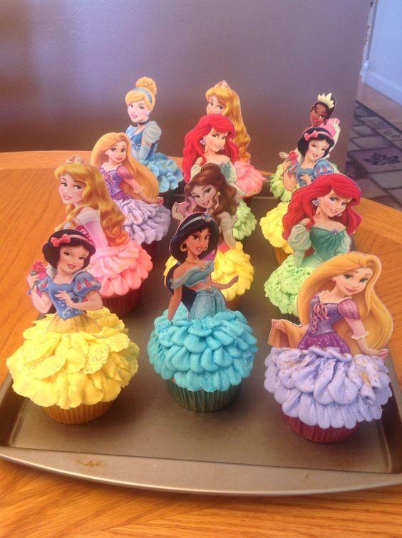 cup cake o bollitos de princesas disney (4)
