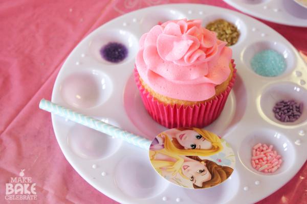 cup cake o bollitos de princesas disney