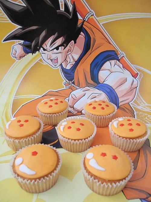cup cake o bollos para una fiesta de goku (4)