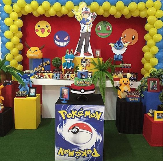 decoracion cumple pokemon