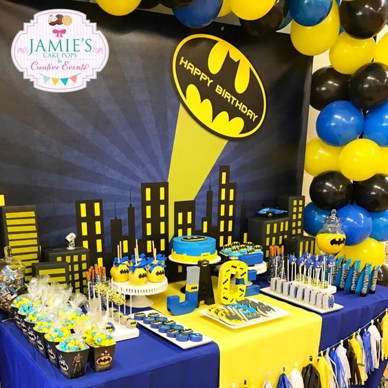 decoracion de batman para cumple