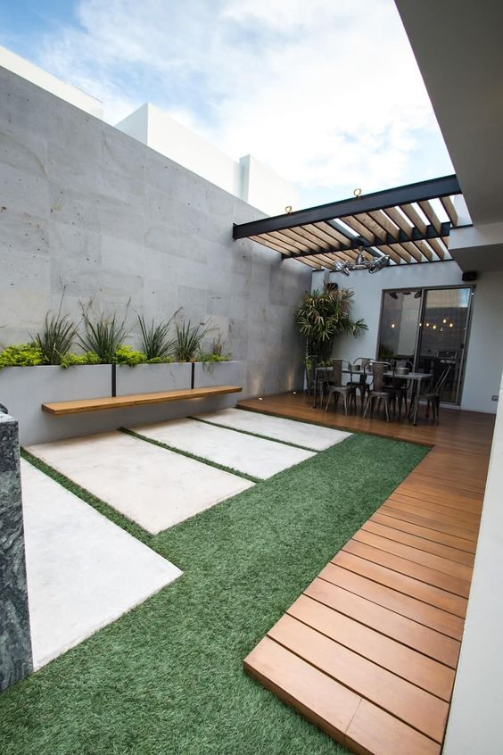 Tendencia en decoraci n de exteriores 2018 2019 de 100 fotos e ideas - Decoracion de patios pequenos exteriores ...