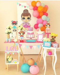 decoracion fiestas muñecas lol