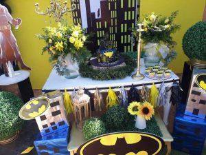 decoracion de mesa principal de batman (3)