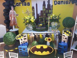 decoracion de mesa principal de batman (4)