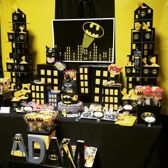 decoracion de mesa principal de batman (7)