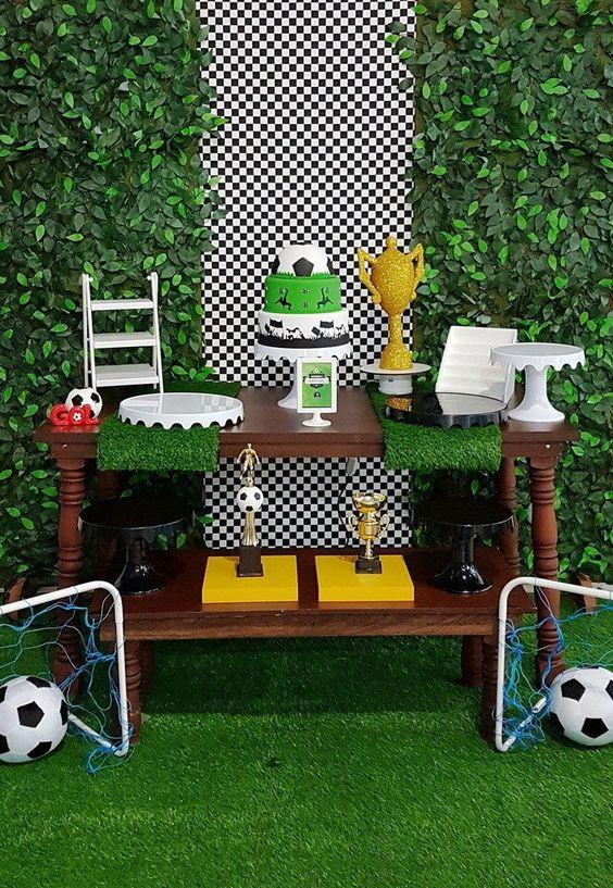 decoracion de una fiesta tematica de futbol infantil