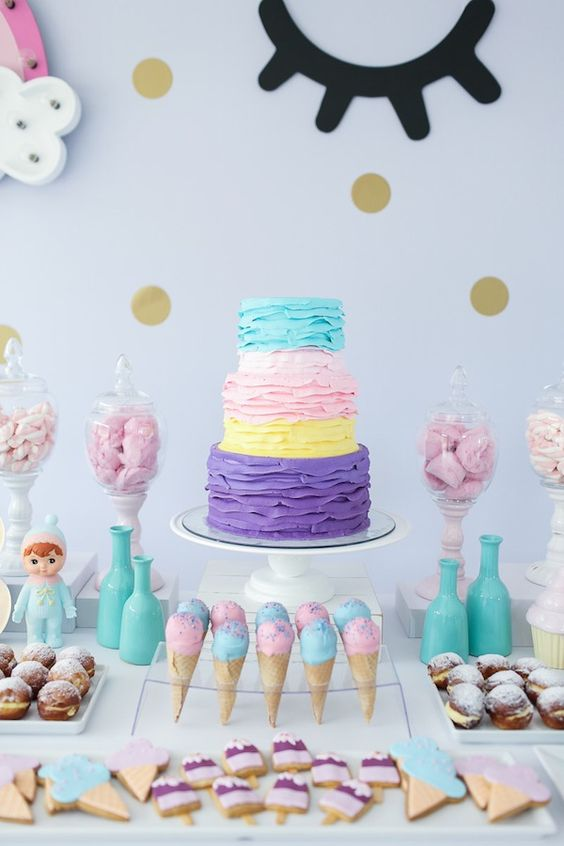 Fiestas infantiles de unicornios con las mejores ideas for Decoracion para pared unicornio
