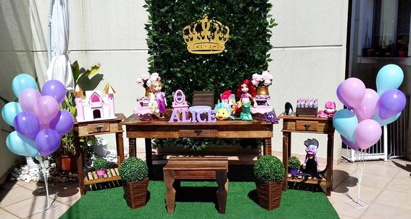 decoracion para fiesta de princesa baby