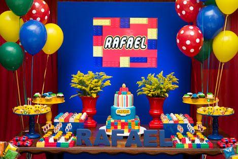 detalles para una fiesta de lego