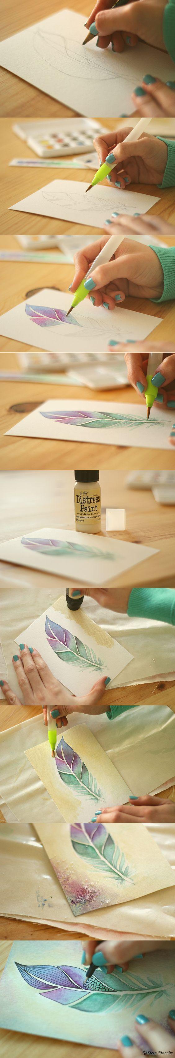 diy ideas para pintar con acuarela