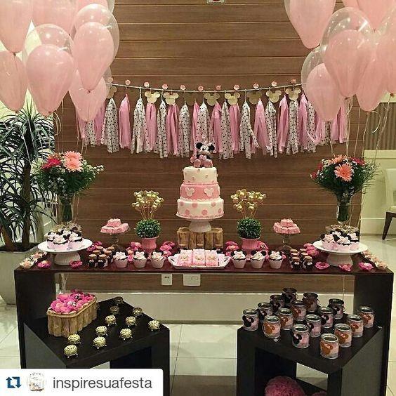 fiesta de minnie mouse rosa