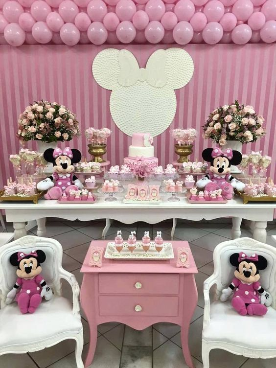 fiestas de minnie mouse rosa