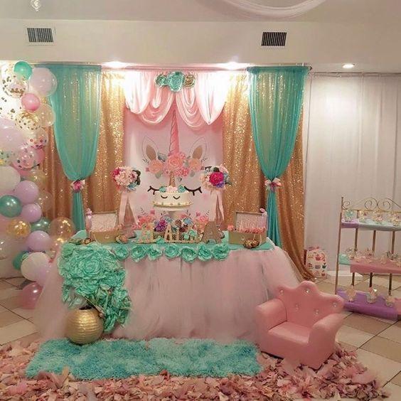 Fiestas infantiles de unicornio decoracion de interiores - Decoracion fiestas infantiles en casa ...
