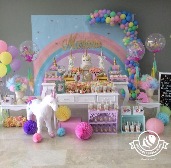 Fiestas infantiles de unicornios con las mejores ideas for Decoracion para la pared de unicornio