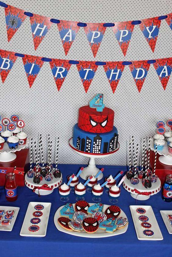 Ideas Para Decorar Cumpleanos De Spiderman Como Organizar La Casa