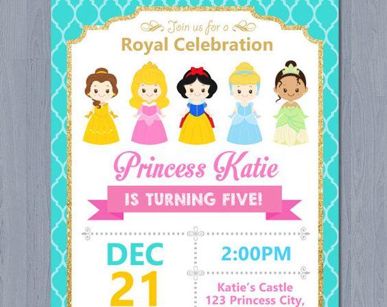 invitaciones para fiesta de princesas disney (2)