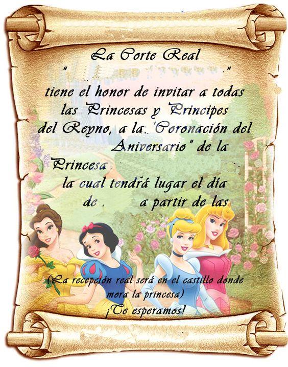 invitaciones para fiesta de princesas disney