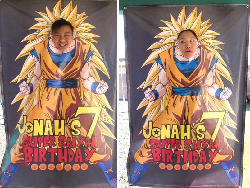 marco de fotos decorado para una fiesta de goku (4)