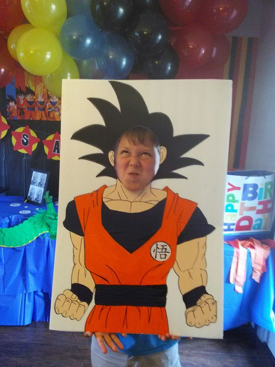 marco de fotos para fiesta de dragon ball z