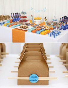mesa de postres para una fiesta de goku (6)