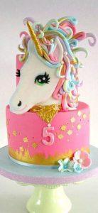 pastel de 2 pisos de unicornio