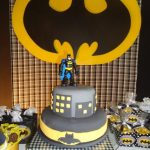 pastel de cumpleanos para fiesta de batman